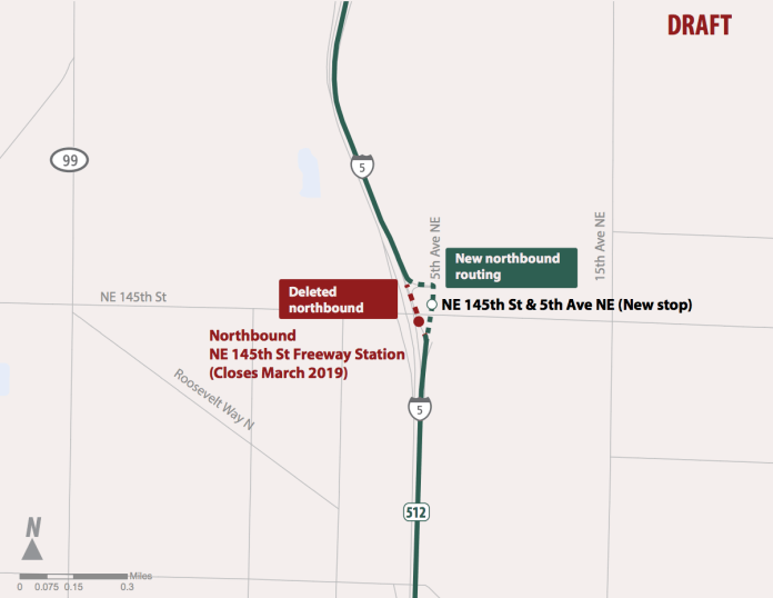 Proposed changes to Route 512. (Sound Transit)
