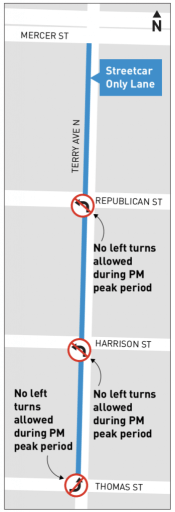 Corridor restrictions imposed by SDOT. (City of Seattle)