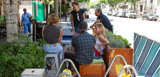 The People St Program aims to involve communities in transforming and embellishing the 7,500 miles of Los Angeles city streets. (Photo credit: People St)