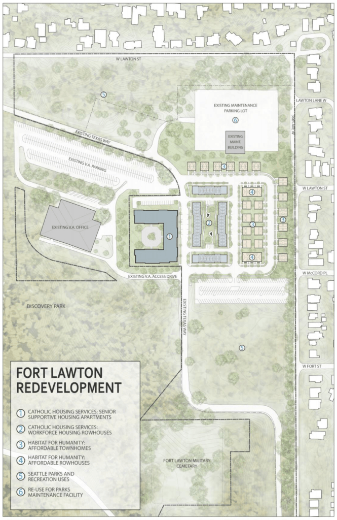 Fort Lawton redevelopment plan. (City of Seattle)