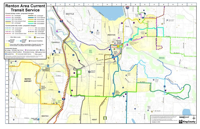 Existing Renton bus route network. (King County)