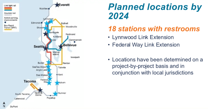 Where restrooms will be located by 2024. (Sound Transit)
