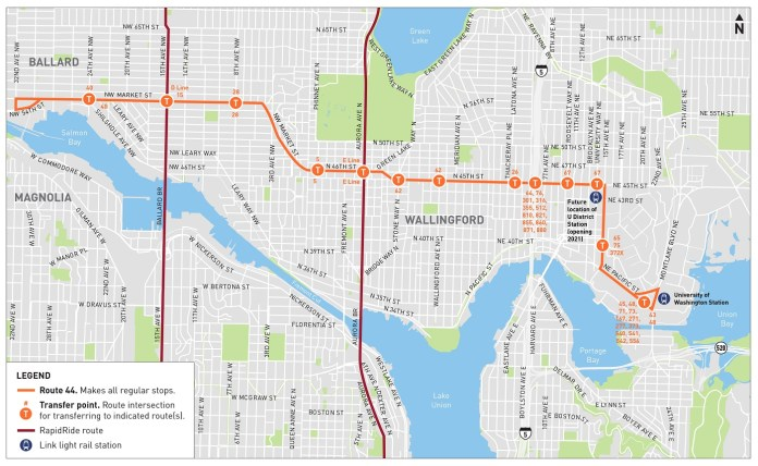 SDOT's project map indicates the many key connections with other transit lines. The crosstown route intersects many major routes, which tend to be north-south in hourglass-shaped Seattle. (SDOT)