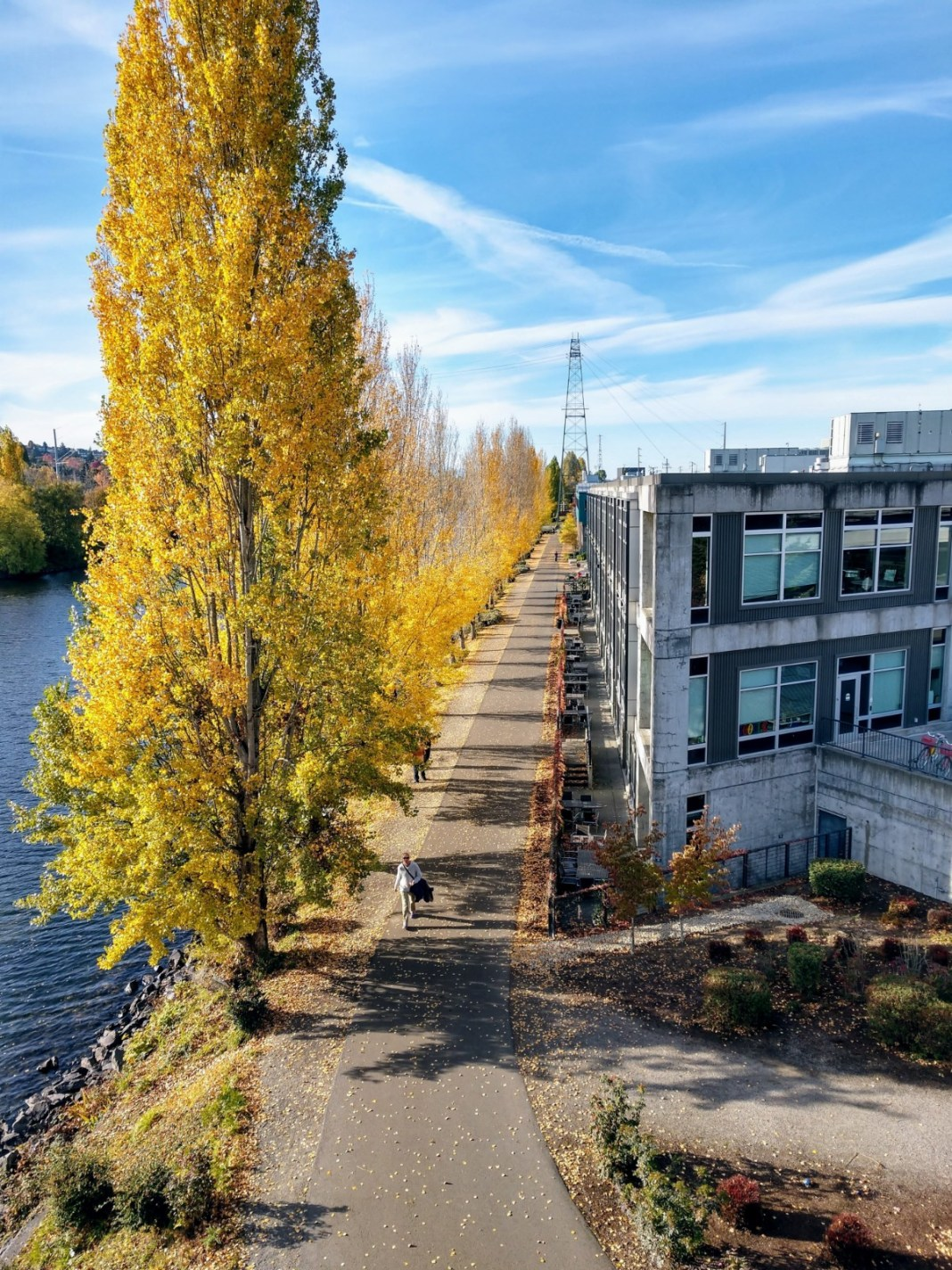 Burke Gilman Trail from the Fremont Bridge. (Photo by author)