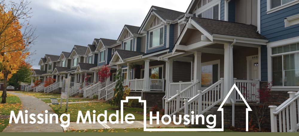 The City of Olympia created this Missing Middle graphic which hints rowhouses are in their vision.