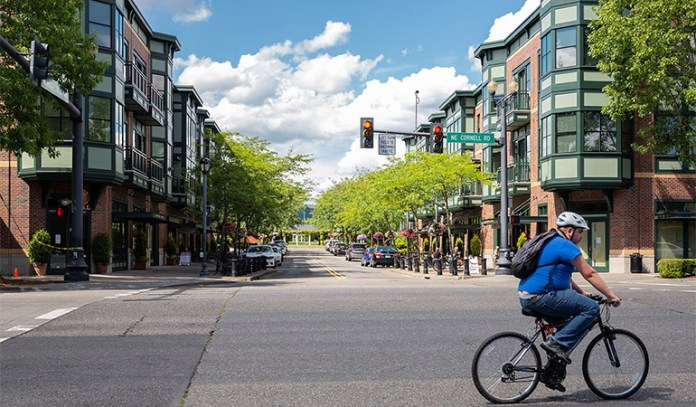 Federal Way uses Orenco Station in metropolitan Portland as an example of a mixed-use residential neighborhood. (City of Federal Way)