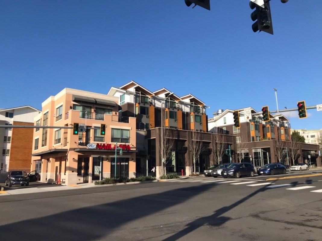 Contemporary development in Downtown Kirkland.