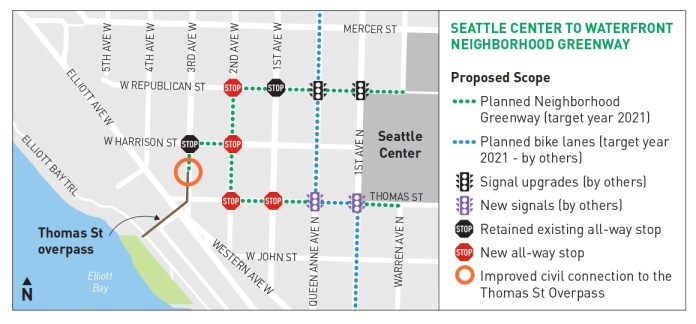 The planned changes near Seattle Center. (City of Seattle)