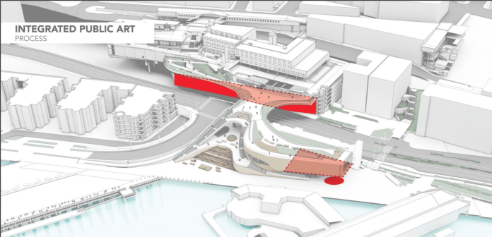 Designs indicate public art will be displayed along the Overlook Walk. (City of Seattle)