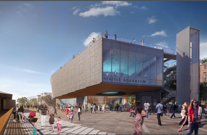 The expanded Seattle Aquarium will draw people in from the waterfront. (City of Seattle)