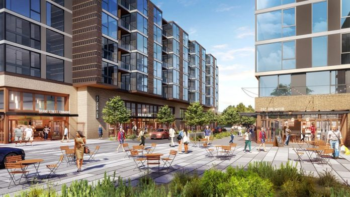 The Grand Street Commons in Mount Baker was among the projects hoping to secure design review approval this year. (Credit: Lake Union Partners)