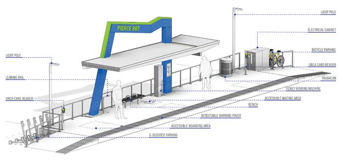 Schematic of the mountain station design. (Pierce Transit)