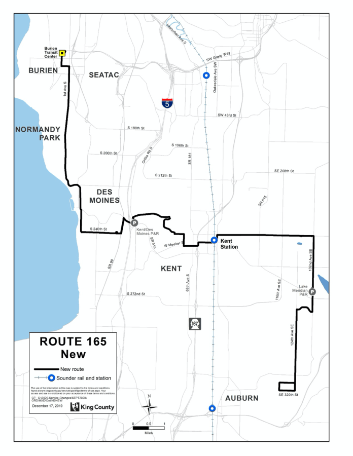 New Route 165. (King County)
