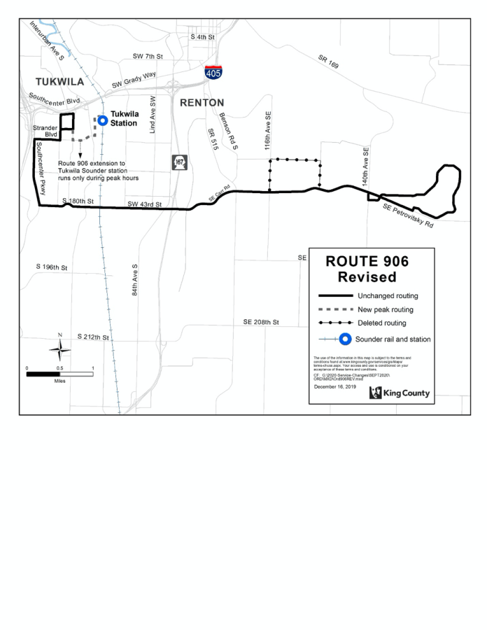 Revised Route 906. (King County)