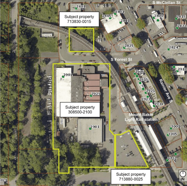 Location of the UW Laundry property in Mount Baker. (City of Seattle)