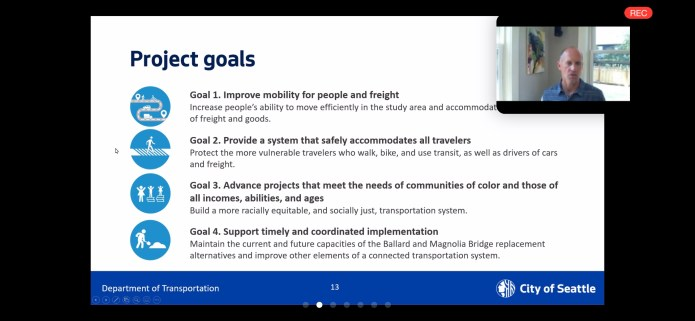 The four project goals are listed with little icons.