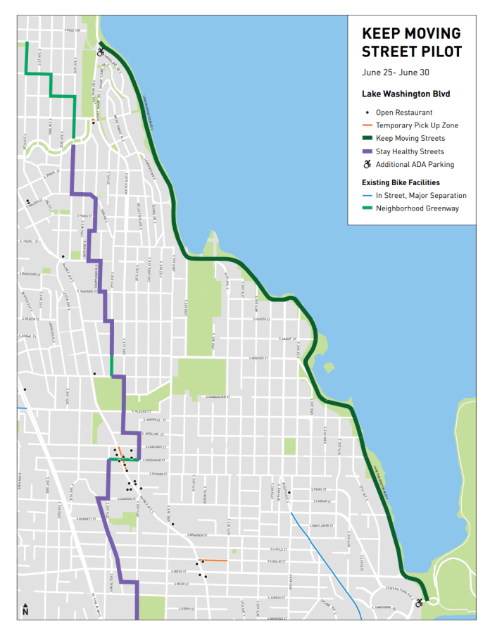 The three-mile open street from Mount Baker Beach to Seward Park will be a more pleasant place to walk, roll, or bike. (SDOT)