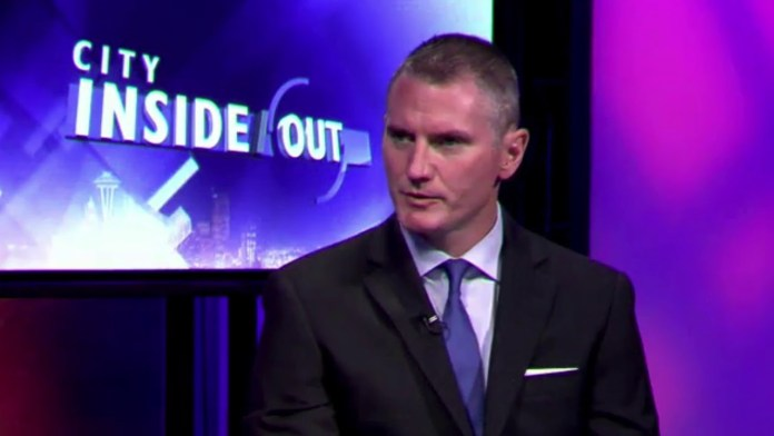 Mike Solan, a white guy in a suit on the CIty Inside Out program.