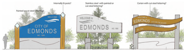 Gateway signs for Edmonds. (Credit: City of Edmonds)