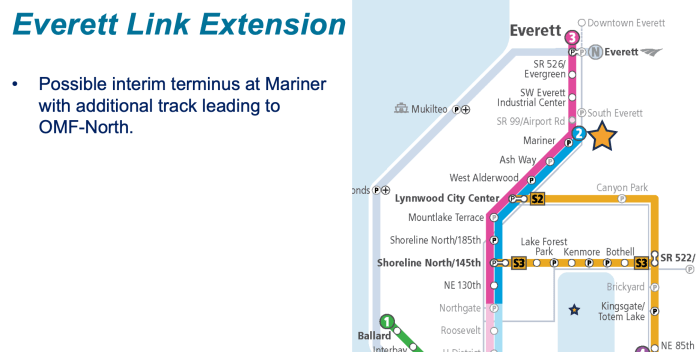 How the Everett Link extension could be phased (Sound Transit)