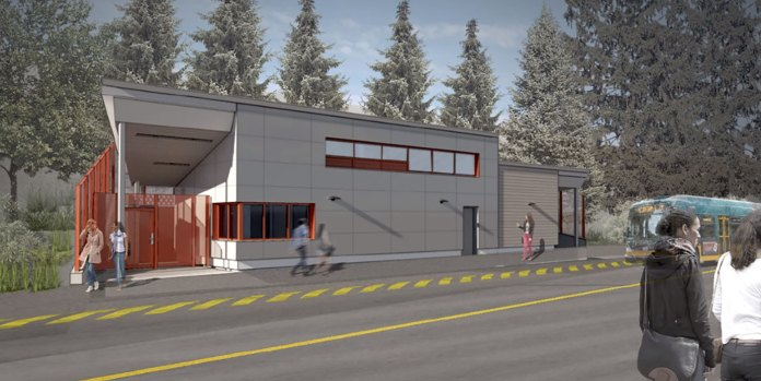 A rendering of the comfort station. (King County)