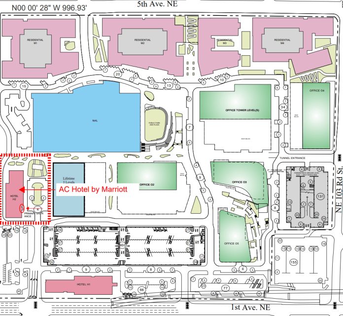A site plan of Northgate Station's planned development