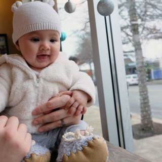 Staying Warm This Weekend – Apple Cider, Warm Scones and Baby Booties!
