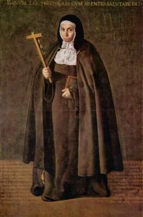 the foundress of the Real Monasterio de Santa Clara, Jeronima de la Asuncion, as depicted by renowned Spanish painter Diego Velasquez (courtesy of Wikipedia)
