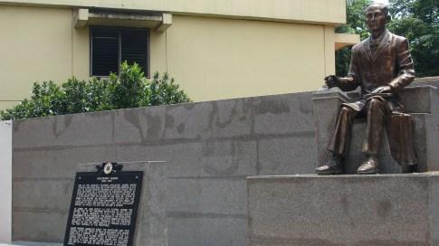 a monument of Apolinario Mabini along A. Mabini Street in Manila