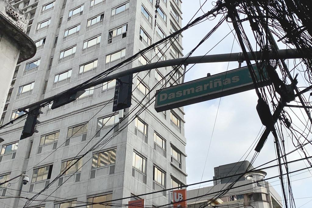 Dasmariñas Street sign