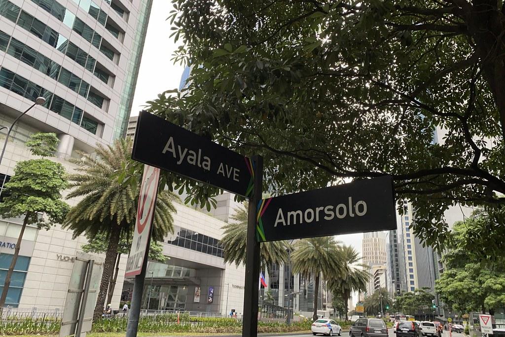 Ayala Avenue corner Amorsolo