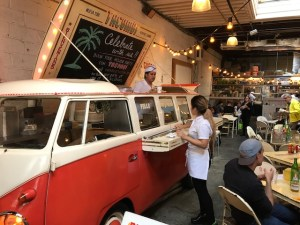 VW Bus at Tacombi - Foods of NY Tours