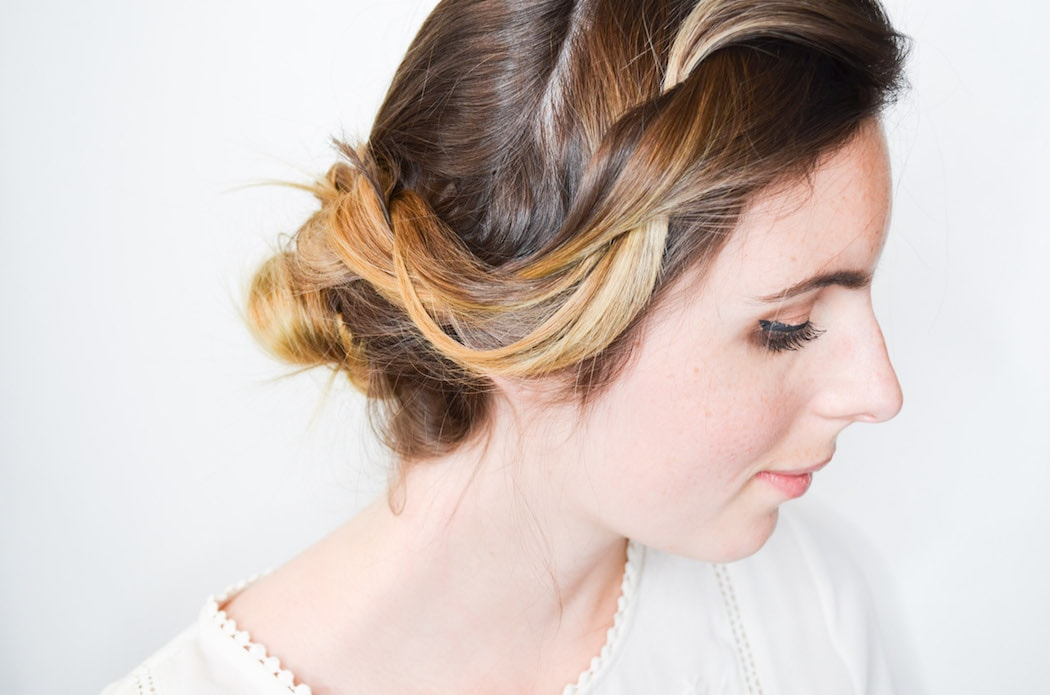 Romantic Double Rope Braid Bun Tutorial