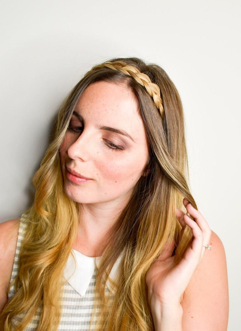 Easy Hairband Braid Tutorial