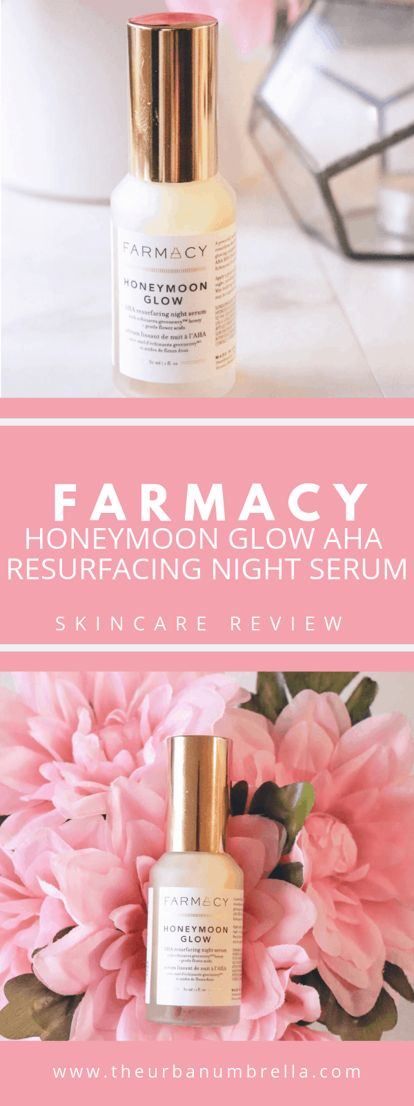 FARMACY Honeymoon Glow AHA Resurfacing Night Serum Skincare Review