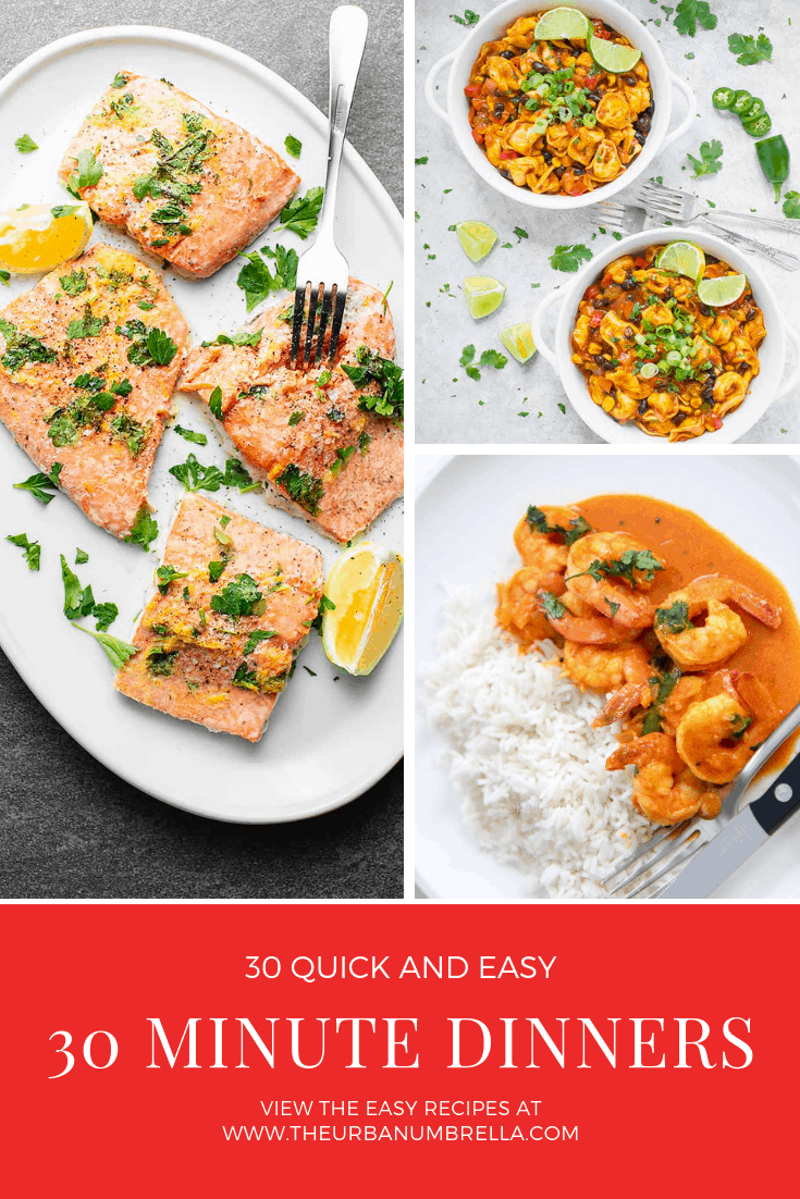 30 Quick and Easy 30 Minute Dinners