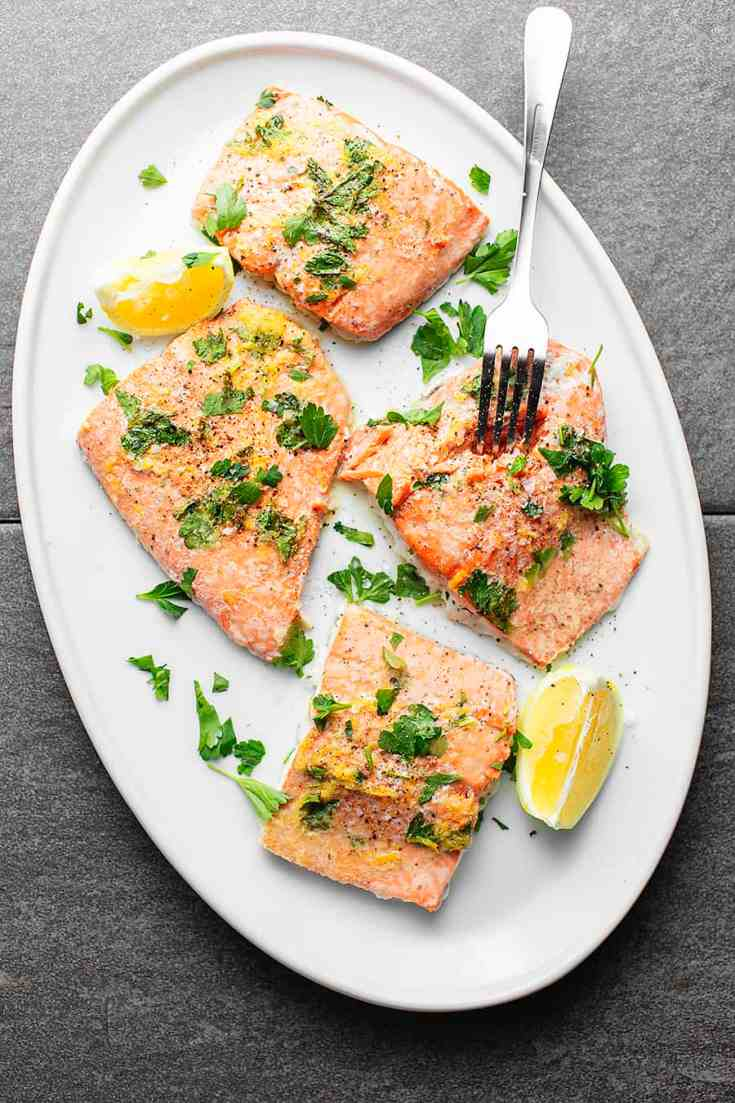 Lemon Pepper Baked Salmon • Low Carb with Jennifer