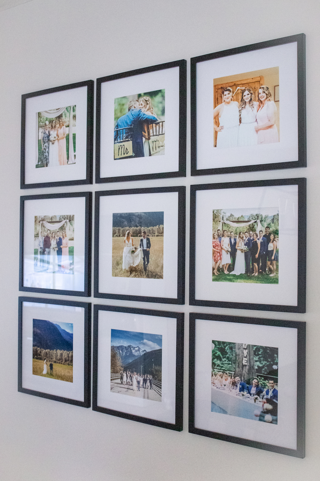 Square Photo Gallery Wall