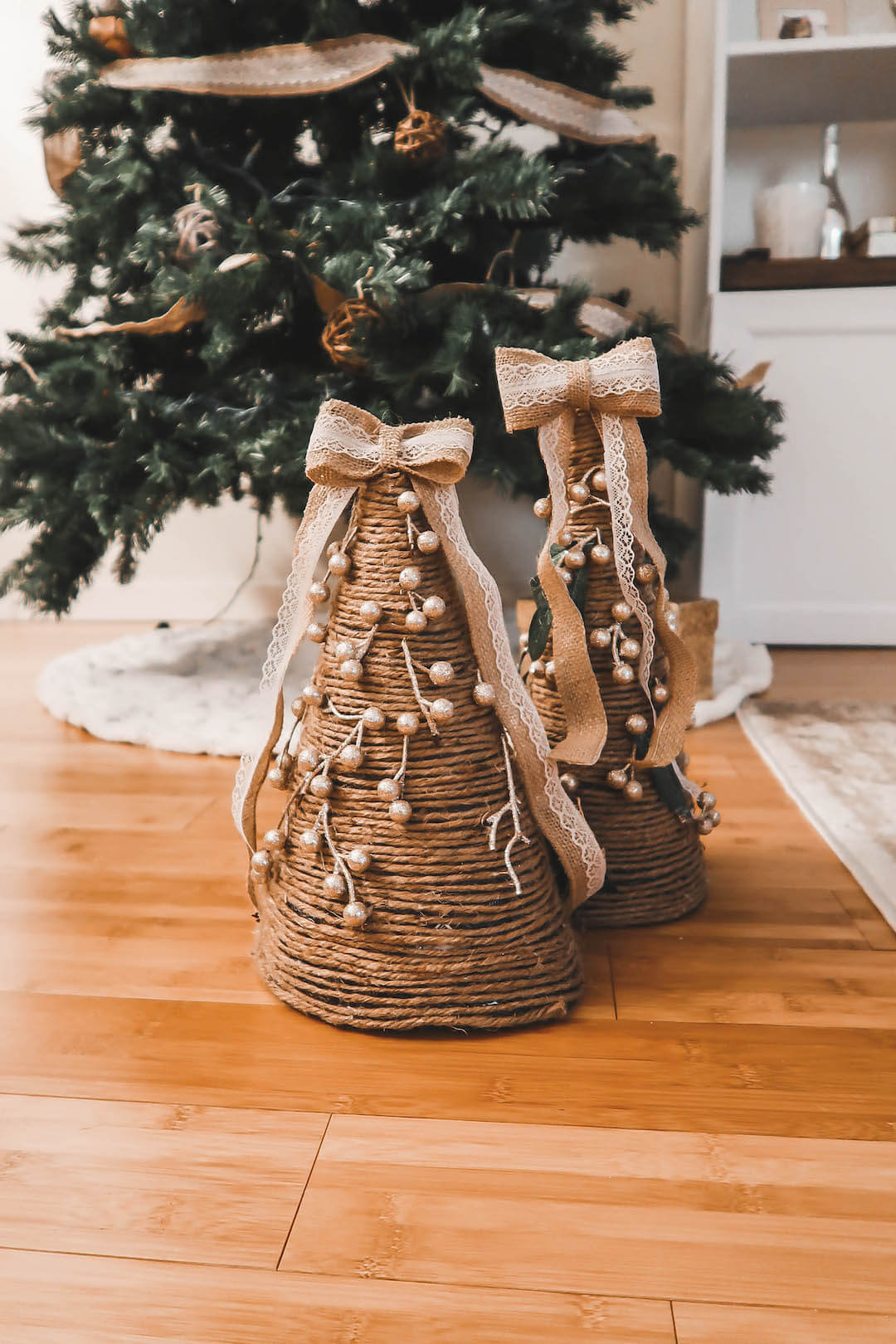 Easy DIY Christmas Cone Trees Project
