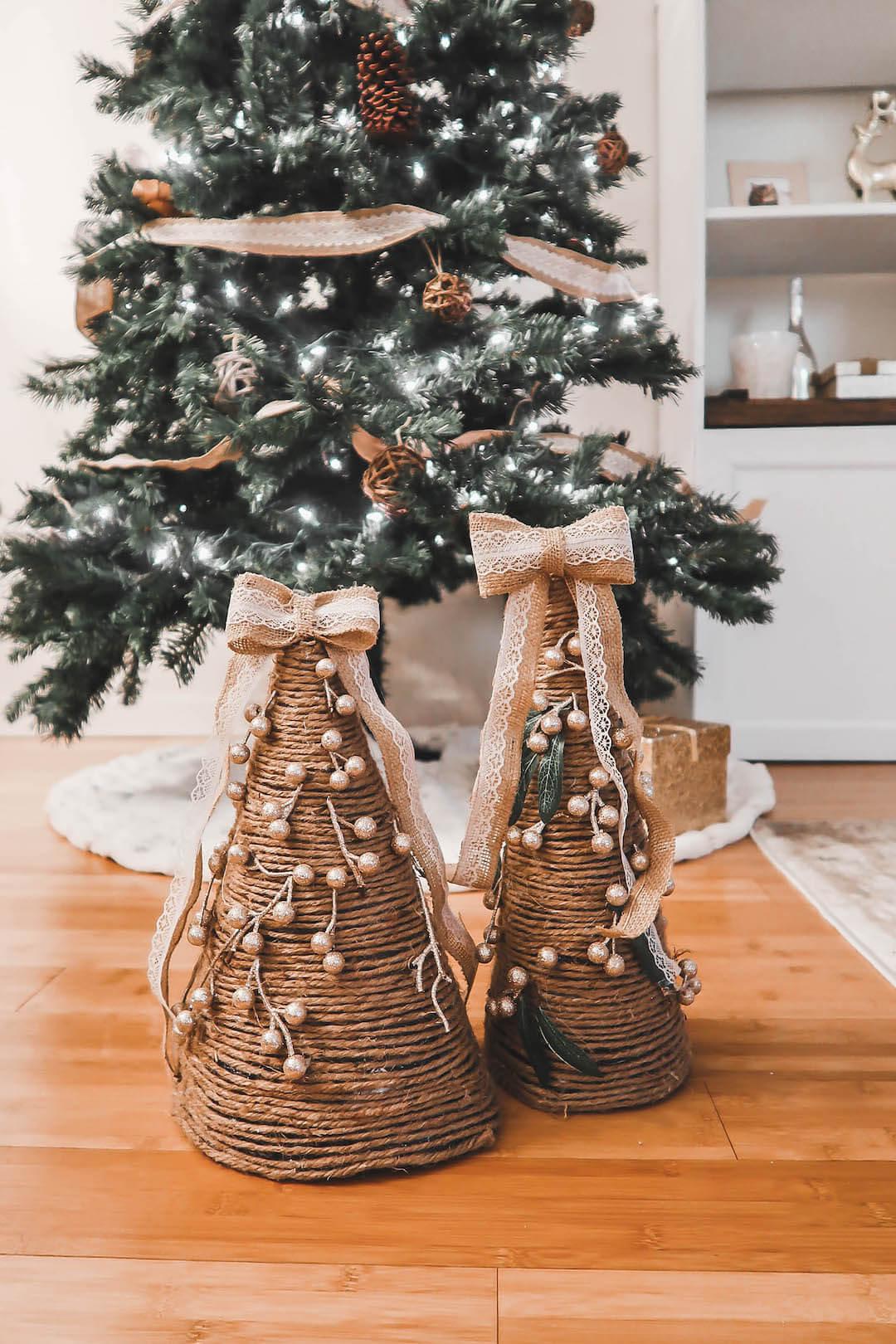 Homemade Christmas Cone Trees