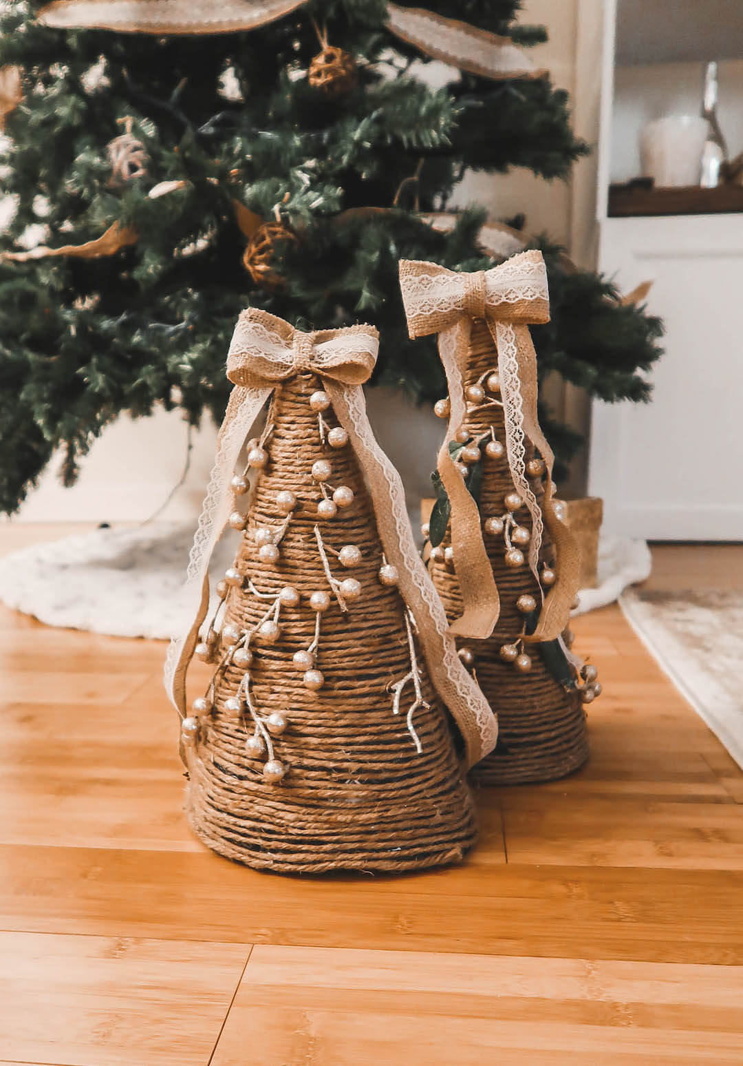 Easy Homemade Christmas Cone Trees