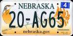 Image of the Nebraska state license.