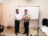 Brain Station 23 staffs greeted Wahid bin Ahsan with flowers