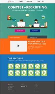 Design of Dev Skill landing page
