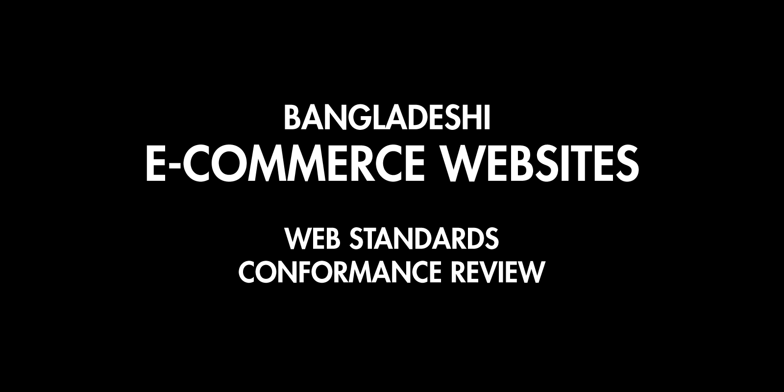 Web Standard Review