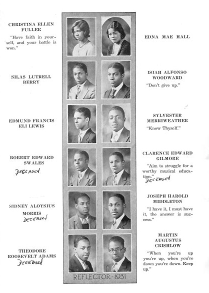Washington DC Genealogy: 1931 Armstrong High School Yearbook