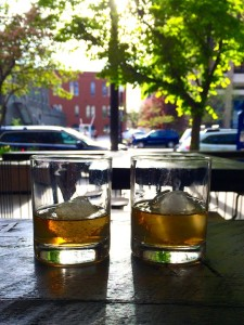 "Whiskey ""on the rock"" at Whiskey Street in Salt Lake City."