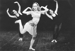 Linda Smith (center) from 1968 RDT performance in 'Back to Back,' choreographed by Bill Evans. Smith is the co-founder of RDT, which will celebrate its 50th anniversary next season.