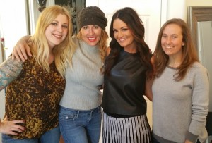 Left to right, Chelsea Nelson, Liz Galloway, Lisa Barlow, Amy Brownstein: photo by Liz Galloway