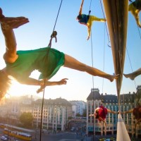 Backstage at The Utah Arts Festival 2018: BANDALOOP raises vertical dance bar in artistic excellence